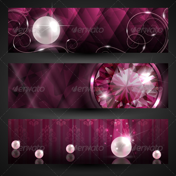 GraphicRiver Jewellery banners set 3168357