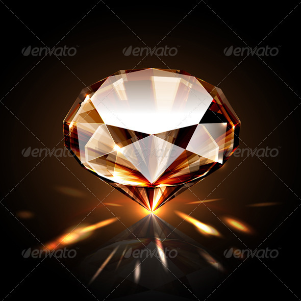 Amber colored diamond