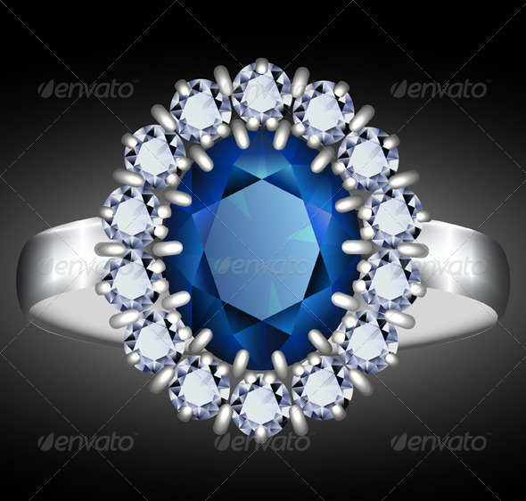 Sapphire ring illustration
