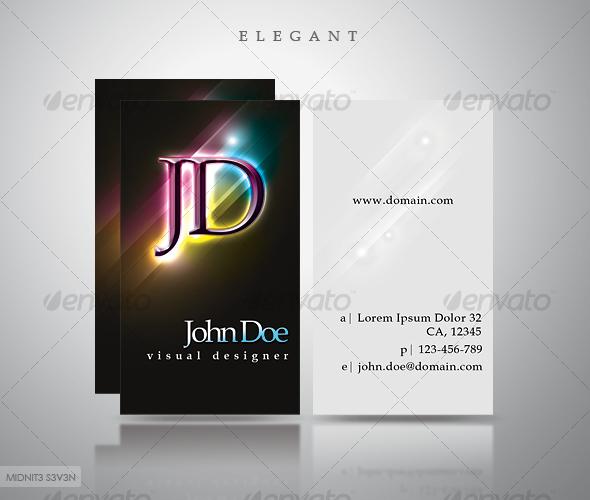 Elegant Dark Business Card #3 - Creative Business Cards