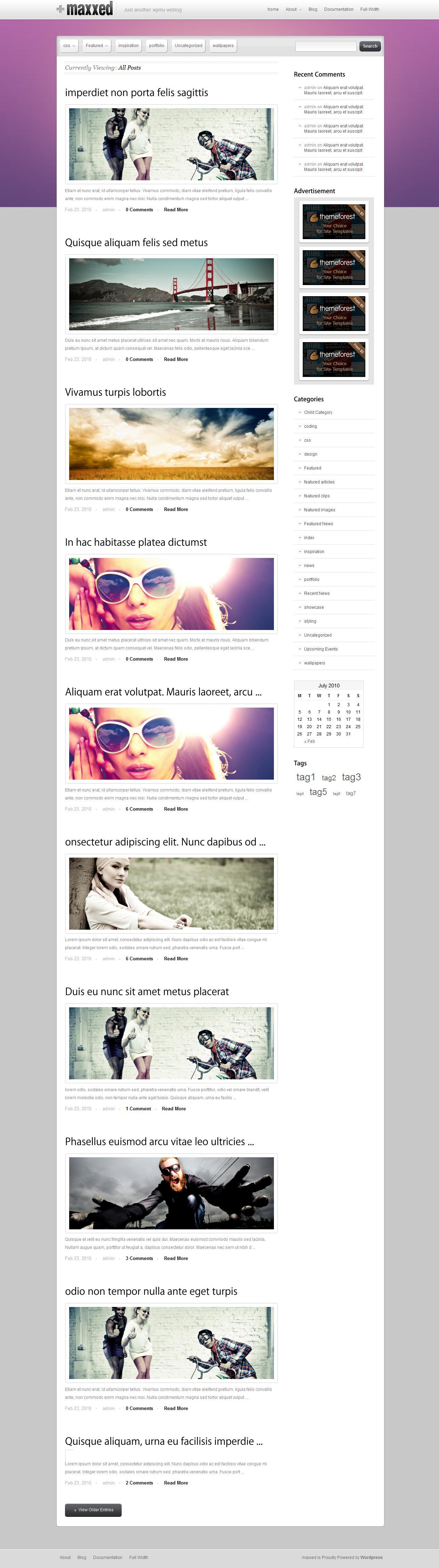 Maxxed - Portfolio and blog theme