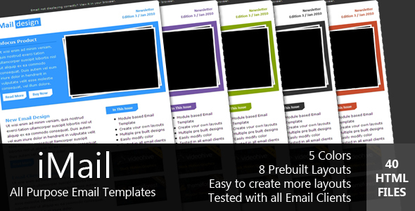 ThemeForest iMAIL All Purpose Email Template 86642