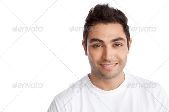 Happy Young Man Portrait - Stock Photo - Images