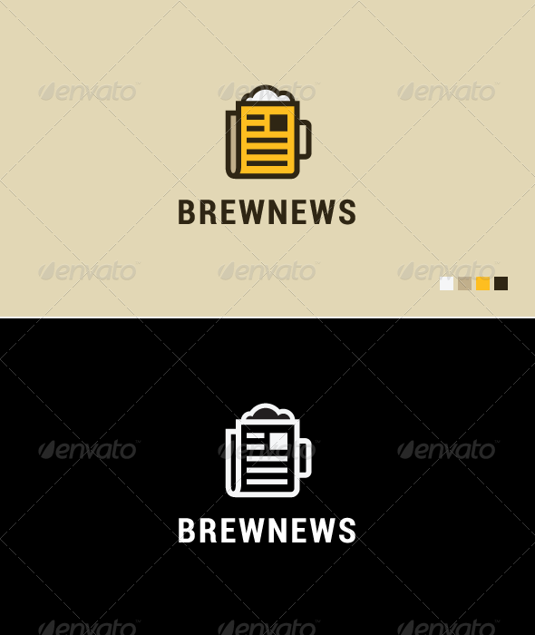Brew News - Logo Template - Food Logo Templates