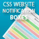 CSS Website Notification Boxes