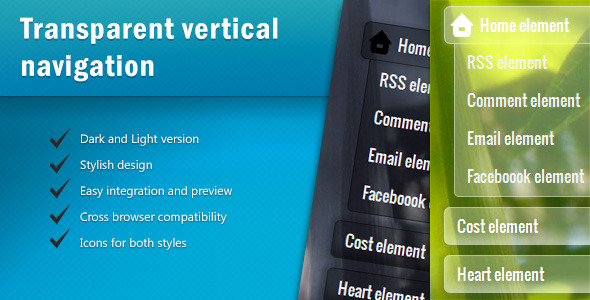 TransMenu - CSS3 Vertical Navigation - CodeCanyon Item for Sale