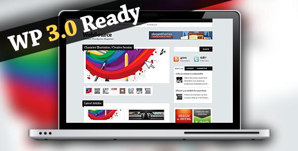 ThemeForest WebSource Wordpress Magazine Theme 111981