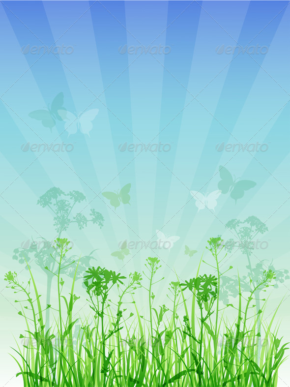 Summer Floral Background