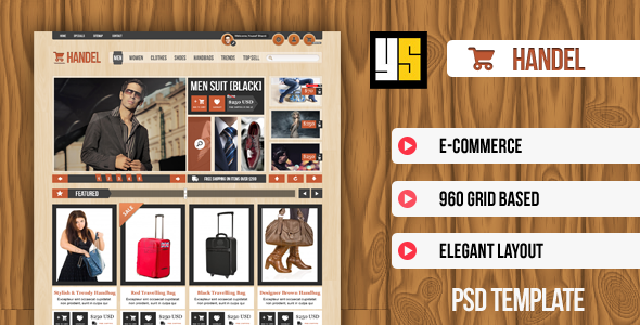Handel | eCommerce PSD Template - Retail PSD Templates