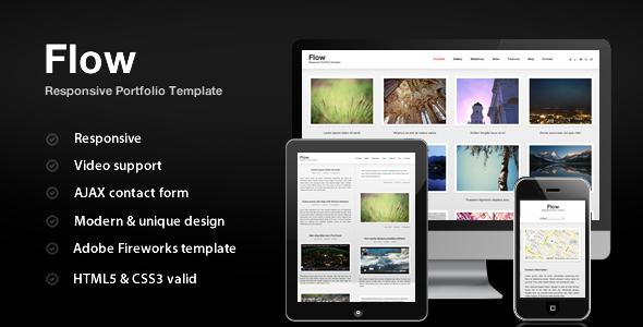 Flow - Responsive Portfolio - Portfolio Creative