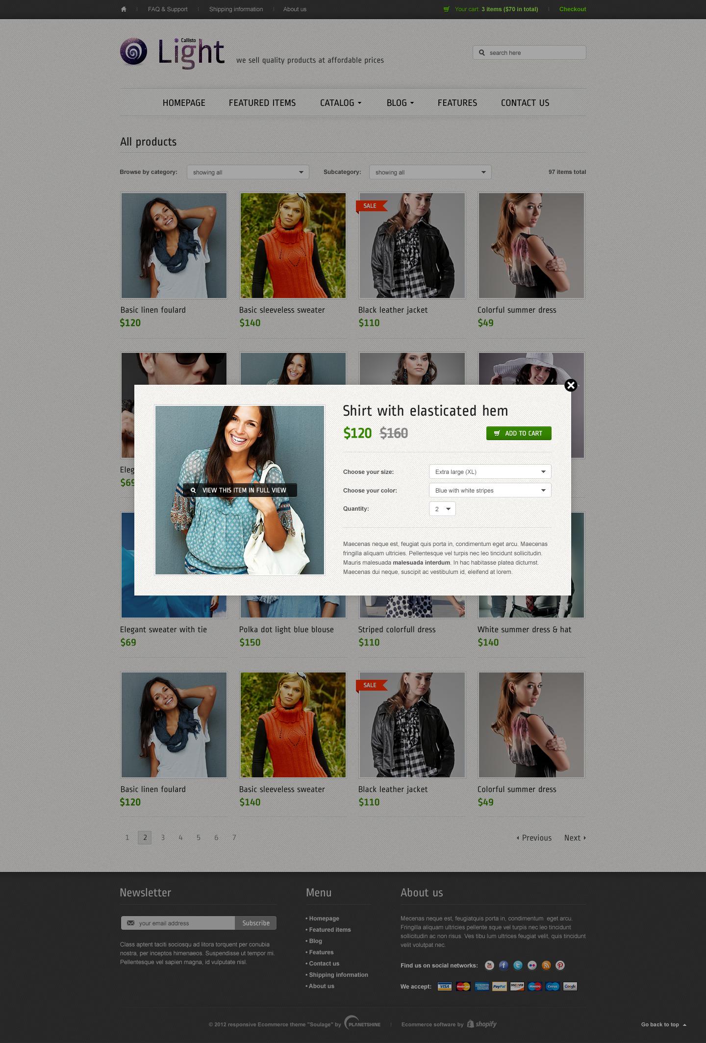 Callisto - Premium Responsive e-Commerce Template