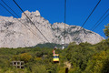 ropeway to the top of Ai-Petri in Crimea mountains, Ukraine - PhotoDune Item for Sale