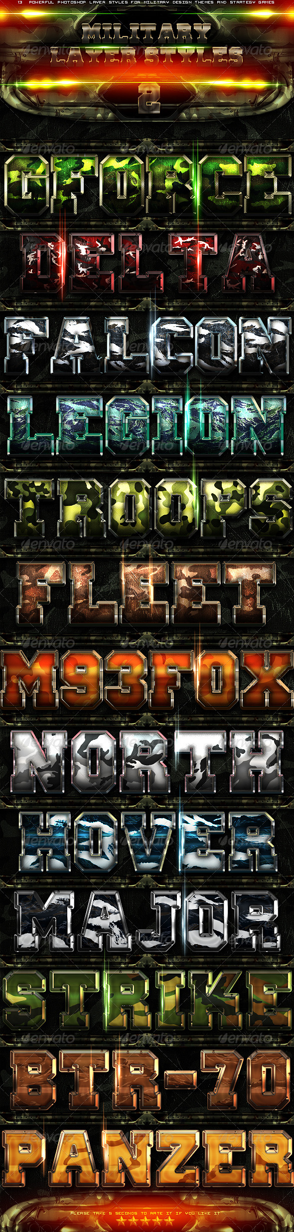 Military Layer Styles 2 - Text Effects Styles