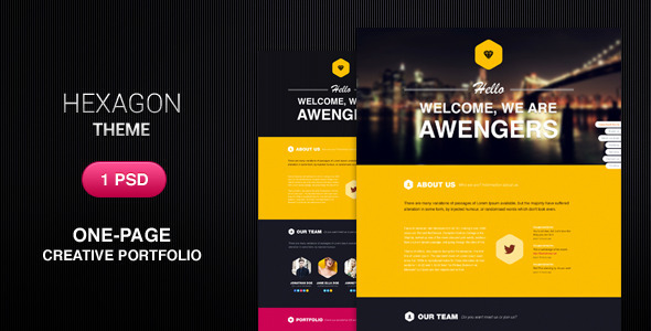 Hexagon - Creative PSD theme - Portfolio Creative