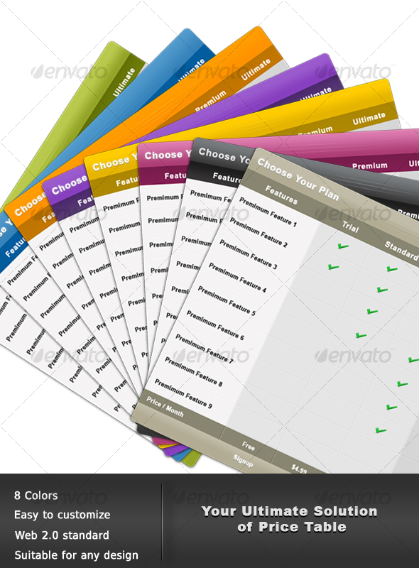 GraphicRiver Web Pricing Table 54601