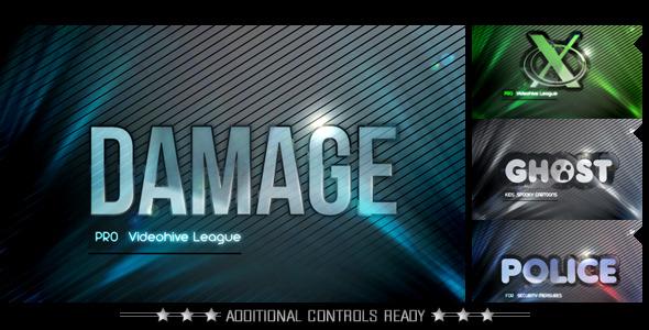 VideoHive Video Logo Damage 3173356