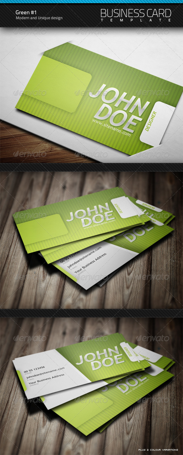 Green Business Card v1.0 - Corporate Business Cards