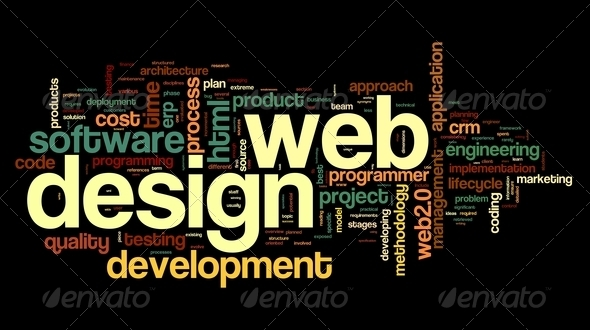PhotoDune Web design concept in word tag cloud 3173645