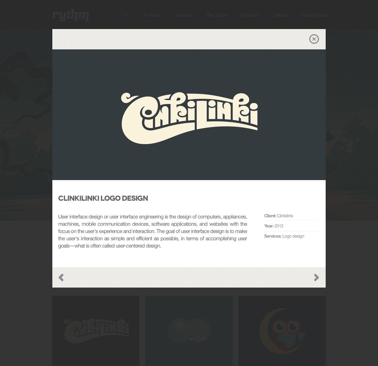 Rythm - A one-page .psd theme for creatives