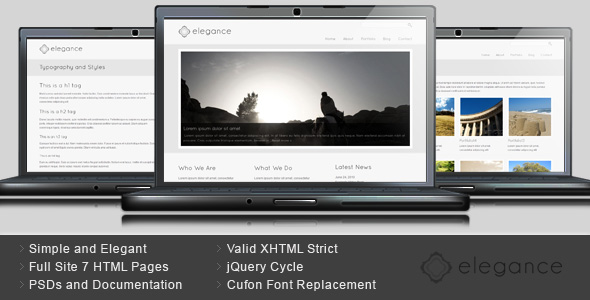 Elegance - Simple and Elegant HTML Template