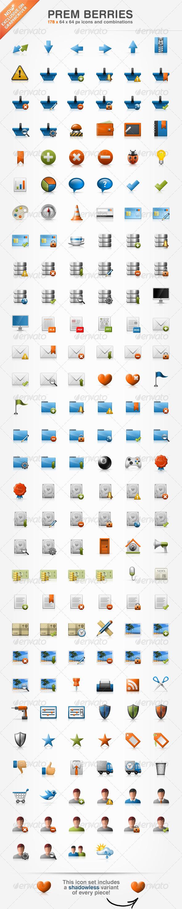 Prem Berries Set 178 Icons