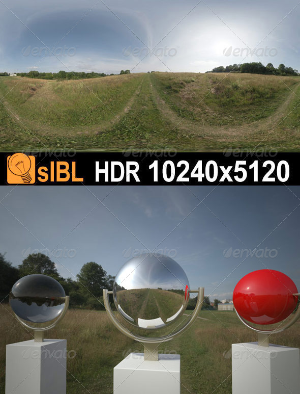 3DOcean HDR 067 Grass Field sIBL 3174860
