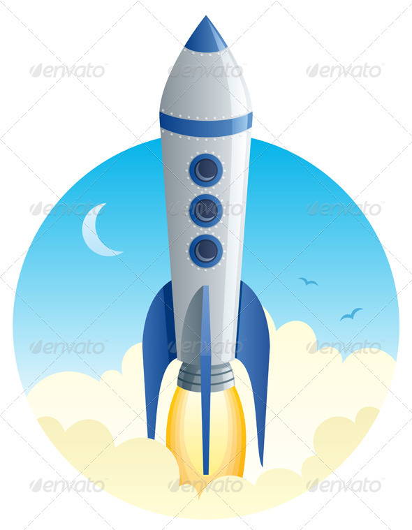 GraphicRiver Rocket Launch 651689