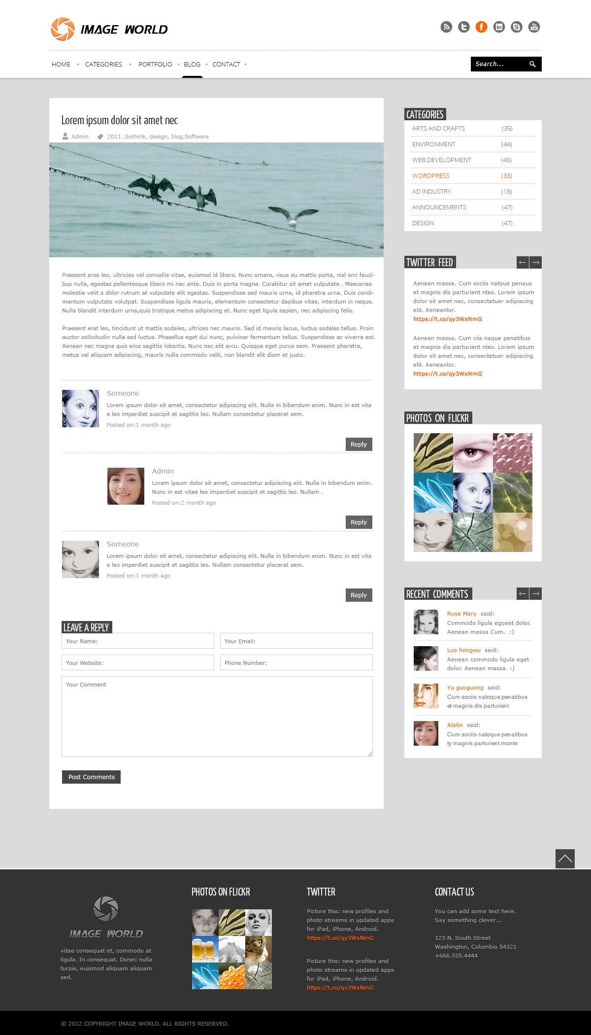 ImageWorld - PSD Templates