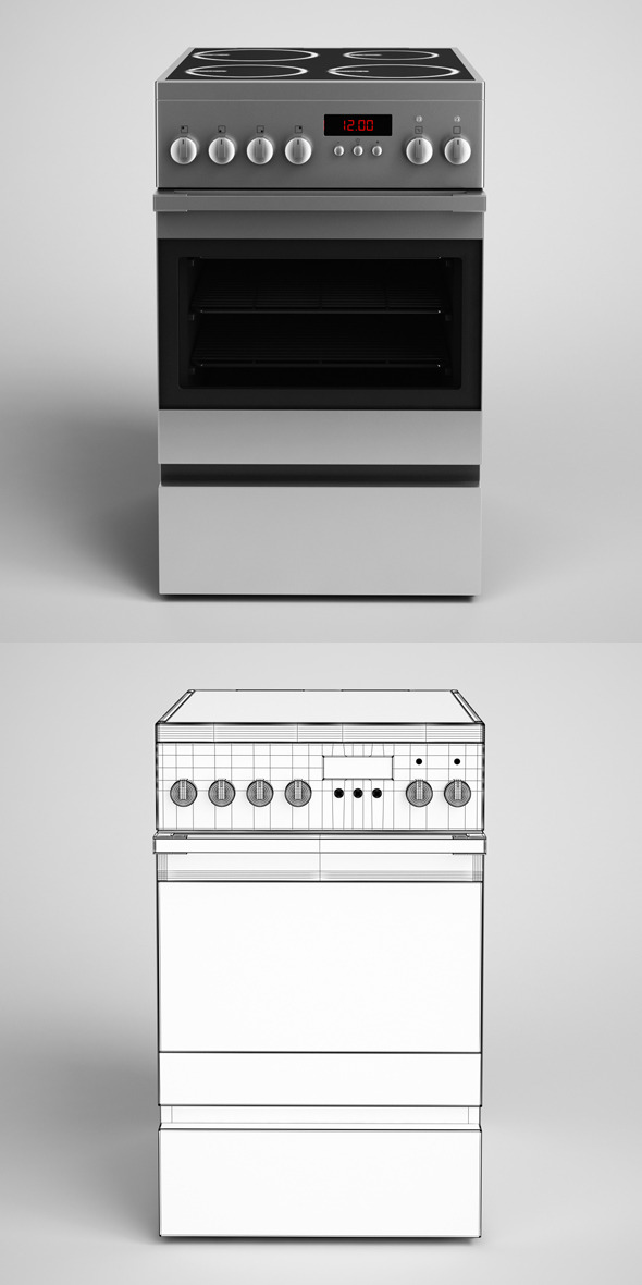 3DOcean CGAxis Electric Stove 15 327445