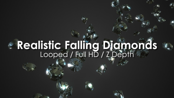 Realistic Falling Diamonds Looped