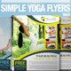 Simple Yoga Flyer Vol.5 - GraphicRiver Item for Sale