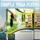 Simple Yoga Flyer Vol.5 - GraphicRiver Item for Sale