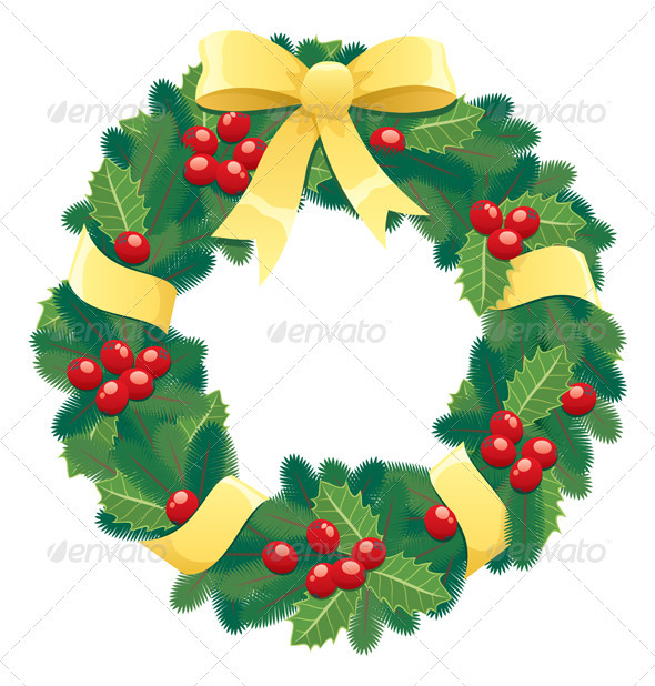 GraphicRiver Christmas Wreath 122599