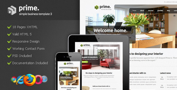 ThemeForest Prime Simple Business Template 3 1143025