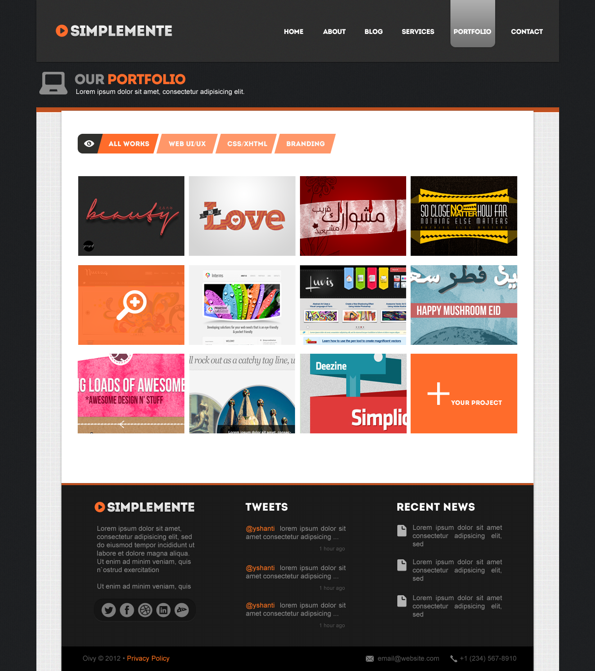 Simplemente | Multipurpose Corporate PSD Template