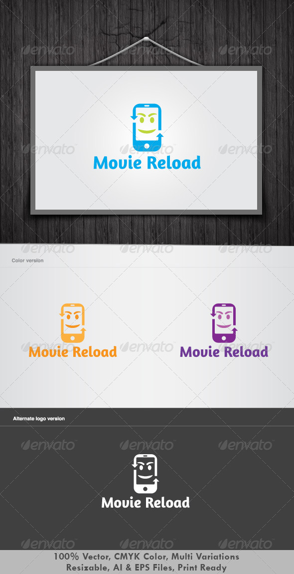 Movie Reload Logo - Objects Logo Templates