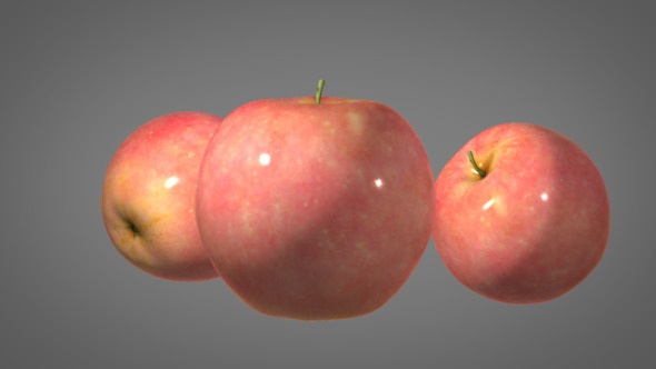 3DOcean Realistic Apple with Shader 3164561