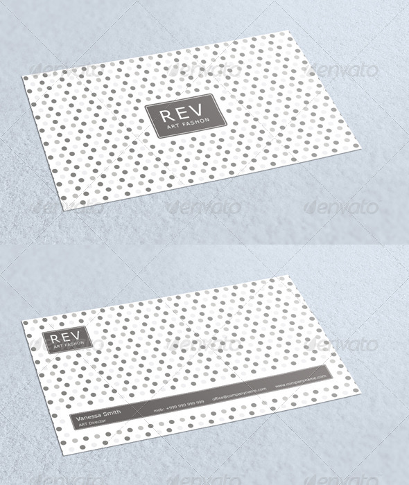 Rev Fashon Business Card GraphicRiver - Print Templates -  Business Cards  Corporate 3178697