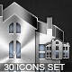 30 3d Real Estate Icons Set - GraphicRiver Item for Sale