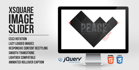 CodeCanyon xSquare Responsive Image Slider html5 jquery 3178785
