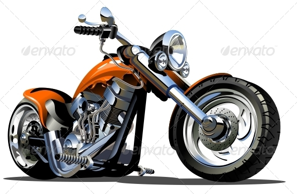 Vector cartoon motorcycle available hi res jpg cdr 12 eps 8 ai