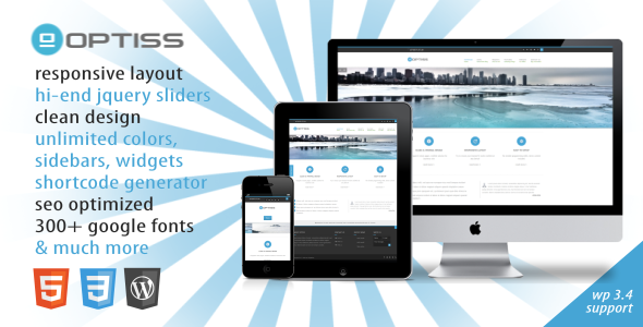 Optiss - Responsive Business Wordpress Theme - Business Corporate