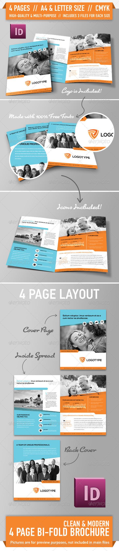 GraphicRiver Clean Modern Bifold Brochure Vol 2 3180496