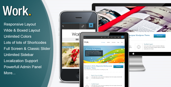 ThemeForest Work Responsive Multipurpose Wordpress Theme 3180637