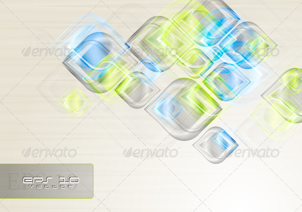 Shiny elegant shapes. Vector background - Backgrounds Decorative