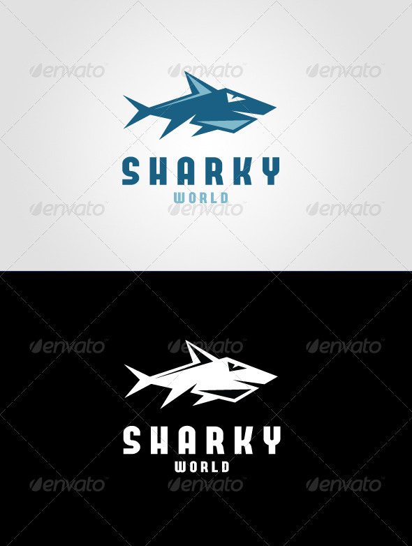 Sharky World Logo Template
