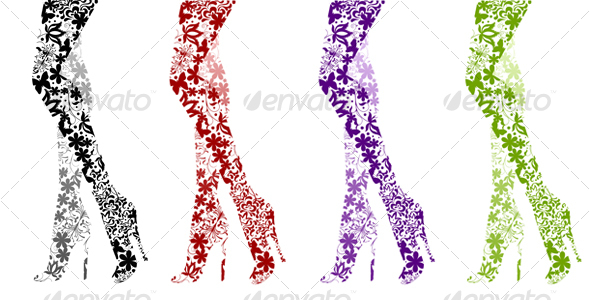 GraphicRiver Glamour Fashion Legs on White 112249