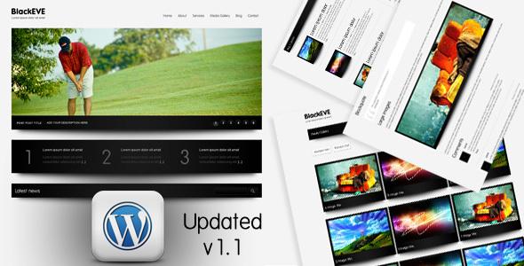 ThemeForest Black Eve Wordpress Version 93185