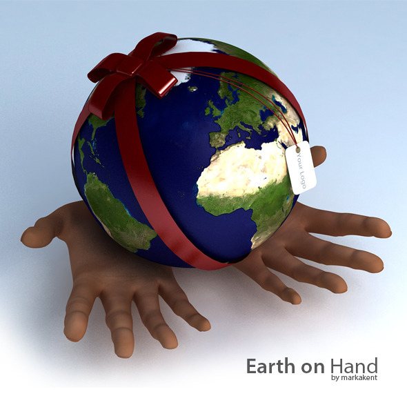 Earth on Hand - 3DOcean Item for Sale
