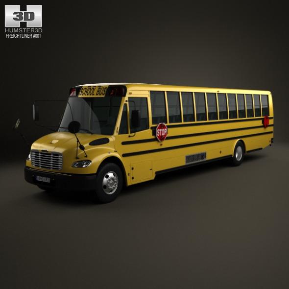 3DOcean Thomas Saf-T-Liner C2 School Bus 2012 3182098